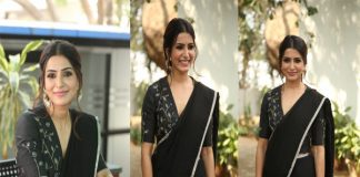 Samantha Black Saree Photos