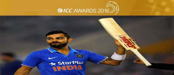 Kohli named captain of ICC ODI Team of the Year