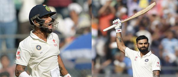 Kohli scores 15th Test hundred in milestone filled inning