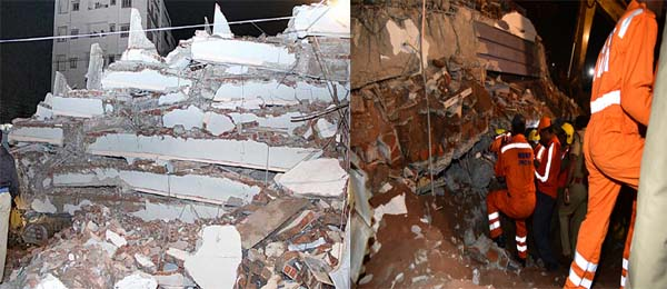 building collapses in city