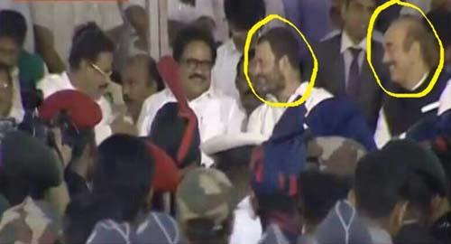 Rahul Gandhi Laughing At Jayalalitha's Funeral