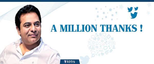 KTR Twitte Million followers