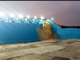Mallanna Sagar Surge Pool Wet Run Successful